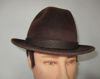 1950's Stevens Beaver Blend Men's Fedora Hat