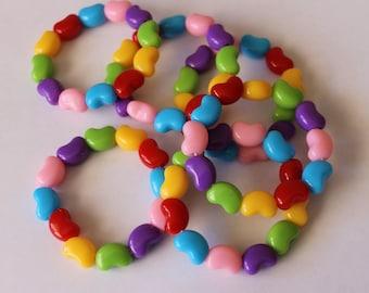 Stretchy Jelly Bean bead bracelet Easter