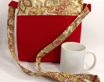 Handcrafted Cross-body Canvas Purse with Lining