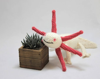 Albino Axolotl Doll