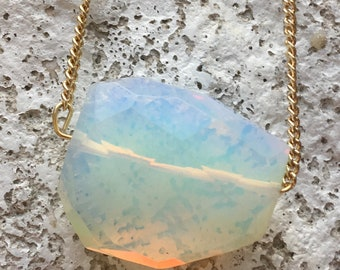 Moonstone Pendant Necklace