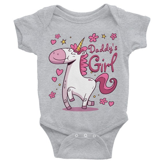 Daddy's Girl Unicorn Baby Onesie® , Baby Girl Onesie | Unicorn Baby Onsie | Daddy's Girl Shirt | Baby Bodysuit, New Baby onesie, Unicorns