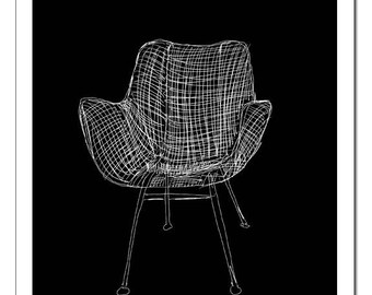 Wassily Chair Illustration-Pop Art Print