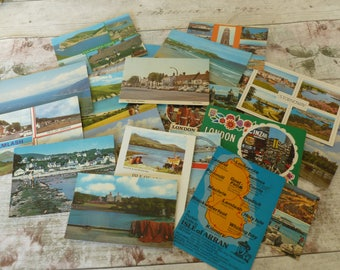 Vintage postcards 1980's set 1