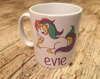 Personalised Unicorn Mug 10oz