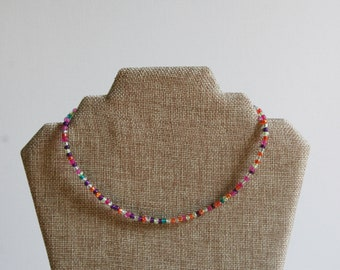 The Jane Necklace// Seed Bead Necklace// Simple Necklace// Choker Necklace// Summer Necklace