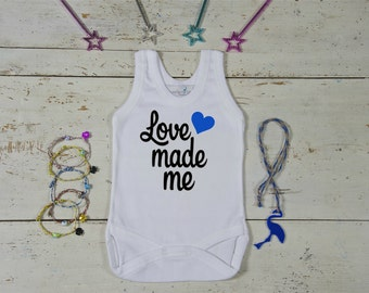 Baby Shower Love Made Me Onesie; Love Made Me Baby; Baby Boy Tee;Love Tee; New Baby Shirt;Cute Baby Tee