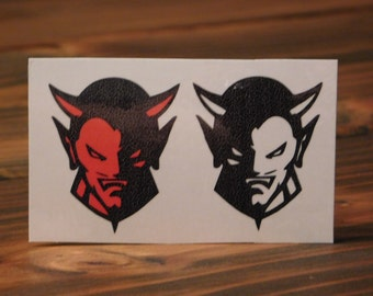 Temporary Tattoo/Devil Face Tattoo/Horned Devil Tattoo/Halloween Devil Face/Custom Tattoos