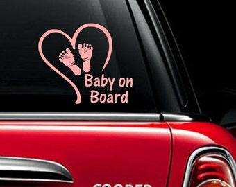 Baby on Board Vinyl Car Decal Boy/Girl