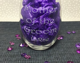 Sand Carved/Engraved - Mother Of The Groom - Personalized - Wedding  - You Choose  - GWD002