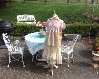 Woodland Tunic Fairytale Picnic Cotton and Antique Lace