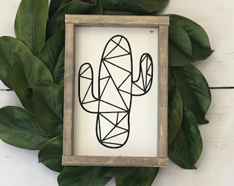 Cactus, Geometric, Farmhouse sign, Indie