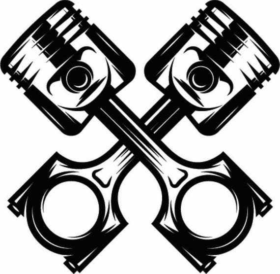 mechanic logo 12 piston crossed cylinder engine auto car part rh etsy com mechanic logo maker mechanic logo vector
