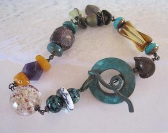 Big  Sur Boho Gemstone bracelet