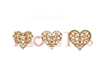 Pyrex Cloverberry heart vinyl decal