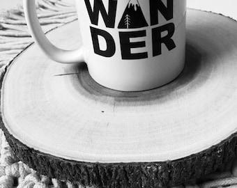 WANDER || mug || for the traveler