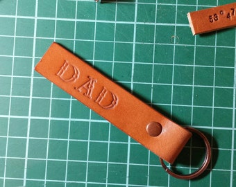 Leather DAD Keyring Keychain