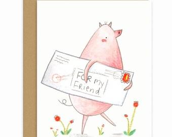 Mail Pig Single Card