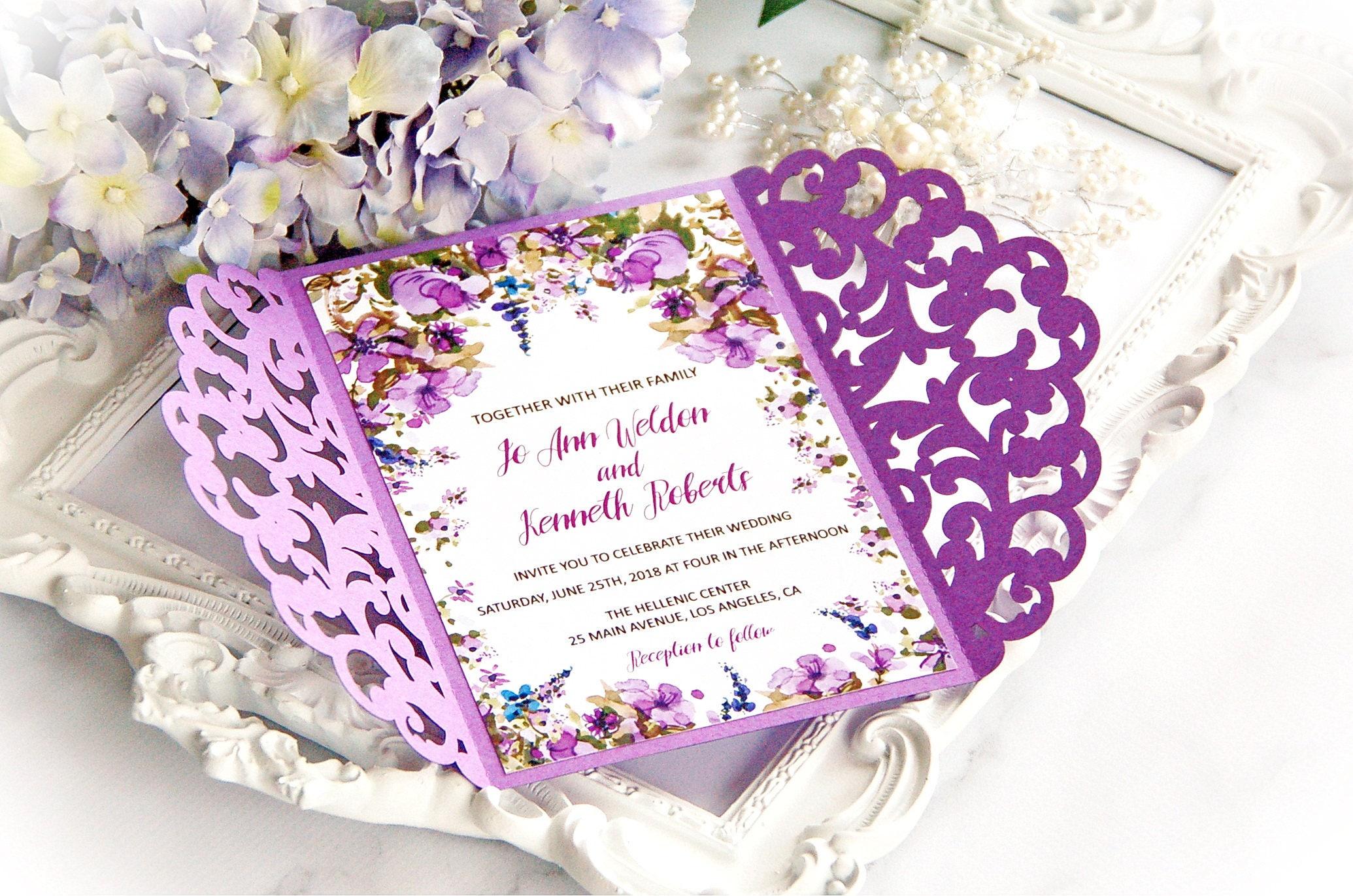 Swirl Wedding Luxury Card Template cutting file svg dxf cdr