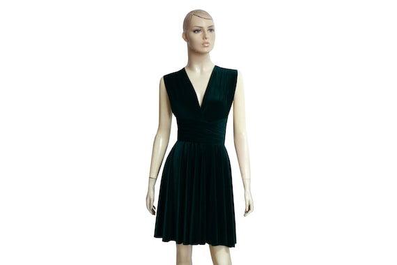Convertible Velvet Dress Teal Bridesmaid Dress Infinity Dress
