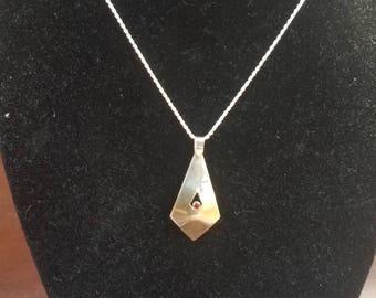 Garnet Silver Necklace