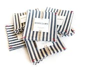 Denim Coasters in a Broad Stripe - set of 4 - Workshop Collection