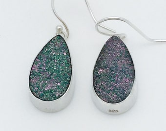 Pear-shaped Druzy Earrings