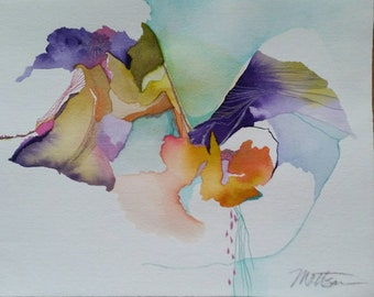 "SPRING SALE  Untethered Series ""Thunderstorm"" original one of a kind watercolor"