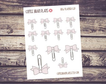 Light Pink Bow Planner Clip Planner Stickers