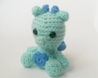Crochet Fairy Dragon, Stuffed Animal Dragon, Mini Plush Fairy Dragon, Kids Birthday Gift, Toy Fairy Dragon, Gifts under 30, Amigurumi Dragon