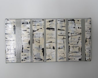 Original Abstract Art, Birch Trees