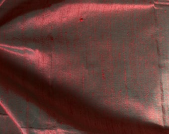 Silk Dupioni in Red Green- Extra wide 54 inches, DEX 258 A