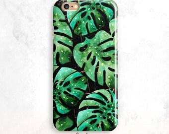iPhone 6S Case, Tropical iPhone 5S Case, Tropical Leaves iPhone SE Case, iPhone 6 Plus, iPhone 7, Leaf iPhone 6 Case, Palms iPhone 5 Case