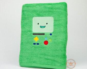 Adventure Time Bath Towel - BMO - Embroidered Bathroom Towel Decor