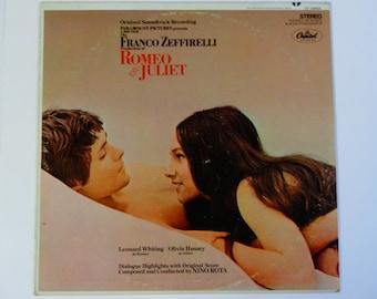 Romeo & Juliet - Franco Zeffirelli - Shakespeare - Nino Rota - Original Soundtrack Record - Capitol 1968 - Vintage Vinyl LP Record Album