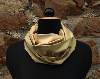 Silk Scarves for Women, Infinity Scarf, Silk Infinity Scarf, Green Infinity Scarf, Green Silk Scarf, Olive Green Scarf, Yellow Silk Scarf