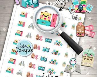 60%OFF - Travel Stickers, Printable Planner Stickers, Luggage Stickers, Kawaii Stickers, Vacation Sticker, Planner Accessories, Trip Sticker