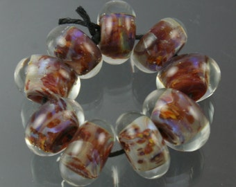 Handmade Lampwork Boro Beads Set of 9 Boro Borosilicate Glass StoneyMarie