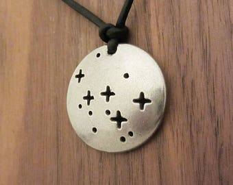 Cassiopeia Constellation Necklace - Astronomy Necklace, Science Jewelry