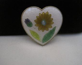Enamel Heart Pin