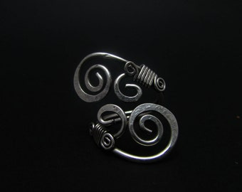 Silver plated handmade copper wire wrapped ring