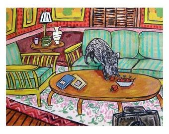Javelina Apple Thief Art Print