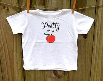 Pretty as a Peach Tee/Onesie