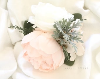 Cake Topper // Peony and Rose Cake Topper // Wedding Cake Topper // Flower Cake Topper // Birthday Cake Topper // Smash Cake