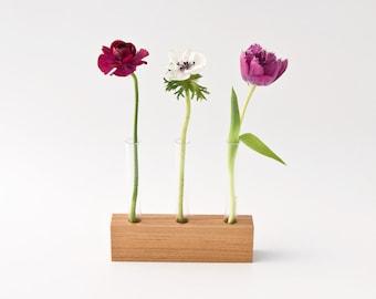 Wooden Bud Vase, Flower Stand, Flower Arrangement LITTLE VIOLET Limited Edition