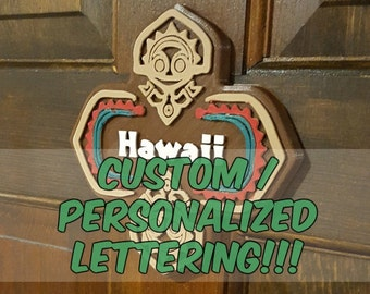 Personalized / Custom Lettering Polynesian Tiki Themed Sign / Plaque!!!