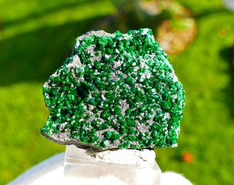 Uvarovite Garnet Crystal Cluster from Ural Mountains in Russia