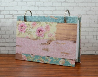 A 3 x 5 index card binder, sturdy chipboard cover, boho vibes, pastel colors, nurses, students, teachers, friend, neighbor or coworker
