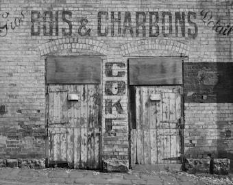 Bois & Charbons Building Print