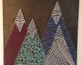 String Art - Mountains